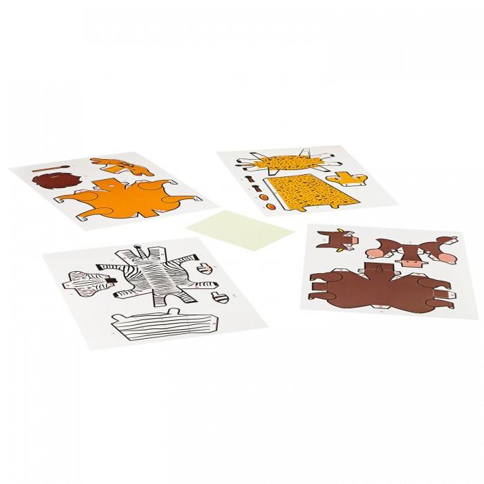 Сборные модели Bondibon Набор для творчества 3D модели из бумаги Животные книги питер комплект подарки вырезаем и складываем из бумаги чудеса света вырезаем и складываем из бумаги