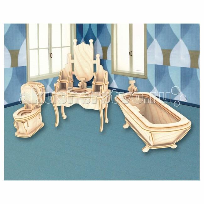 Конструкторы Мир деревянных игрушек (МДИ) Сборная модель Ванная комната ванная