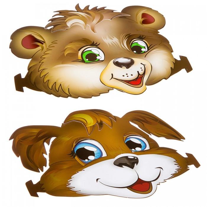 Аппликации для детей Bondibon Набор для творчества Ободки Собачка и Мишка