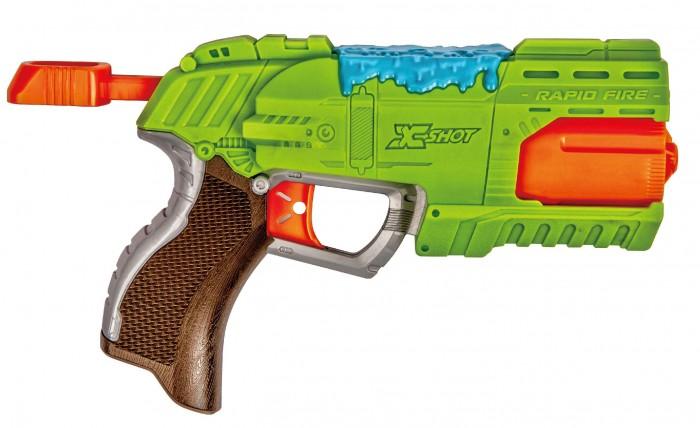 Игрушечное оружие X-Shot Атака пауков Бластер Быстрый Огонь 6 дротиков из вспененной резины, 2 паука водный бластер x shot проливной дождь зеленый 01226