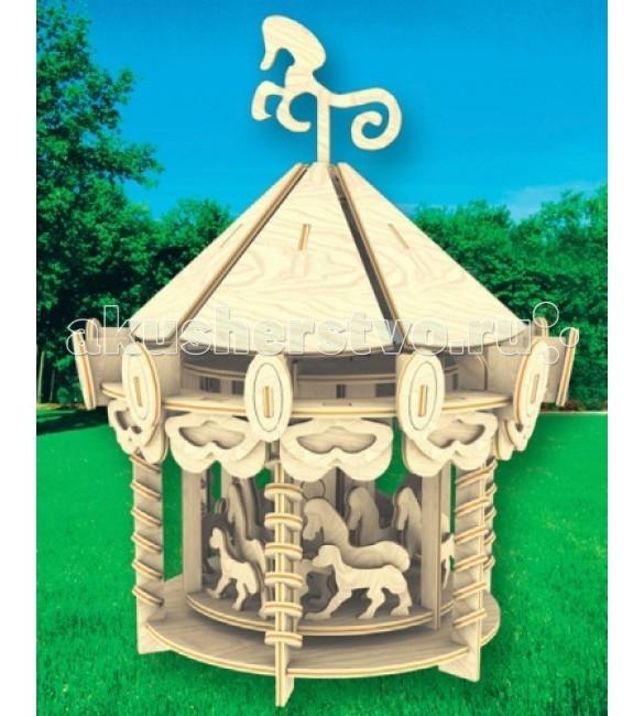 Конструкторы Мир деревянных игрушек (МДИ) Сборная модель Карусель конструкторы мир деревянных игрушек мди сборная модель бабочка