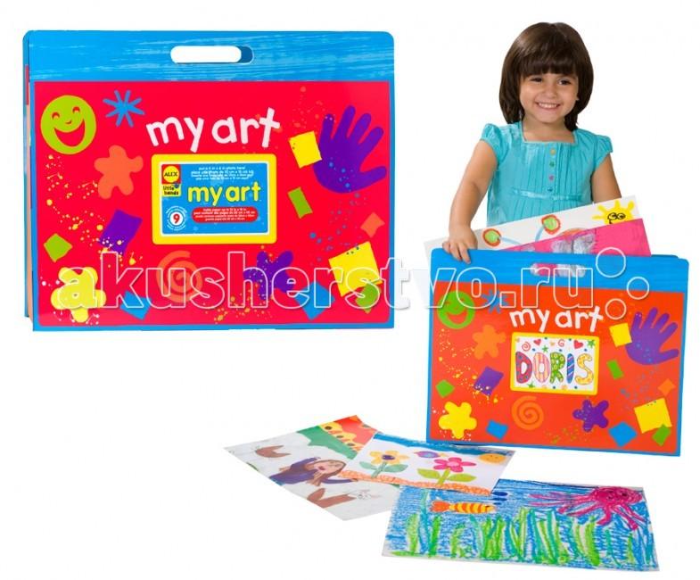 Alex Большая папка для детских рисунков и фотоБольшая папка для детских рисунков и фотоAlex Большая папка для детских рисунков и фото. Большая красочная папка Формата А 3 с 9-ю разноцветными отсеками, в которых можно хранить десятки работ размером до 30 Х 45 см. На лицевой стороне есть прозрачный карман 10 Х 15 см, куда можно поместить фото или личные данные.<br>