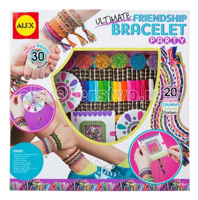 Творчество и хобби , Наборы для творчества Alex Большой набор для плетения браслетов Друзья арт: 75262 -  Наборы для творчества