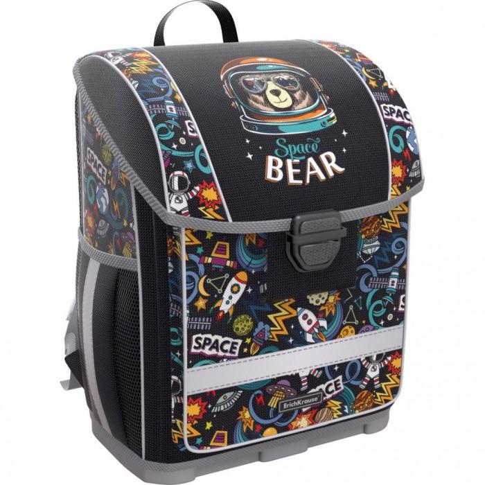 Купить Школьные рюкзаки, Erich Krause Ученический ранец с пластиковым дном ErgoLine Space Bear 16 л
