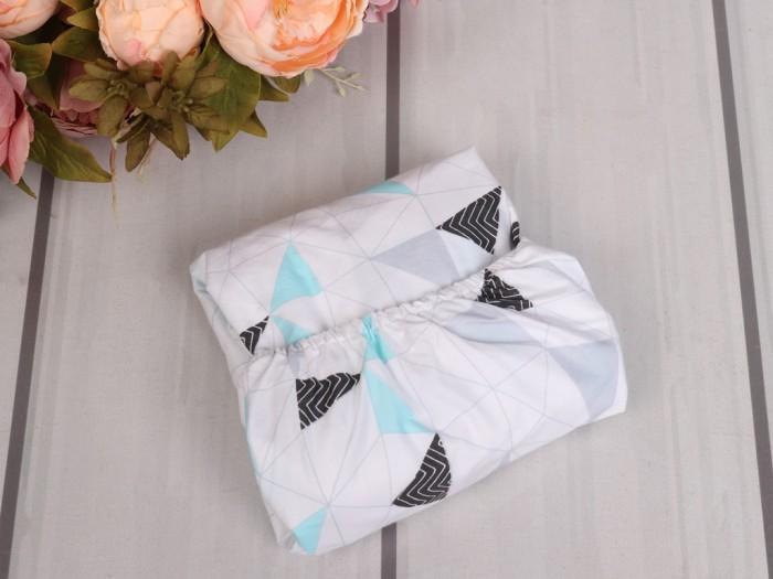 Купить AmaroBaby Простыня на резинке Exclusive Soft Collection Треугольники 125х75 см в интернет магазине. Цены, фото, описания, характеристики, отзывы, обзоры