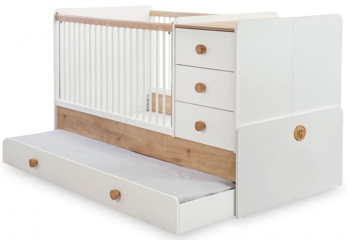 Купить Кроватки-трансформеры, Кроватка-трансформер Cilek Natura Baby 131х80/177х80 см