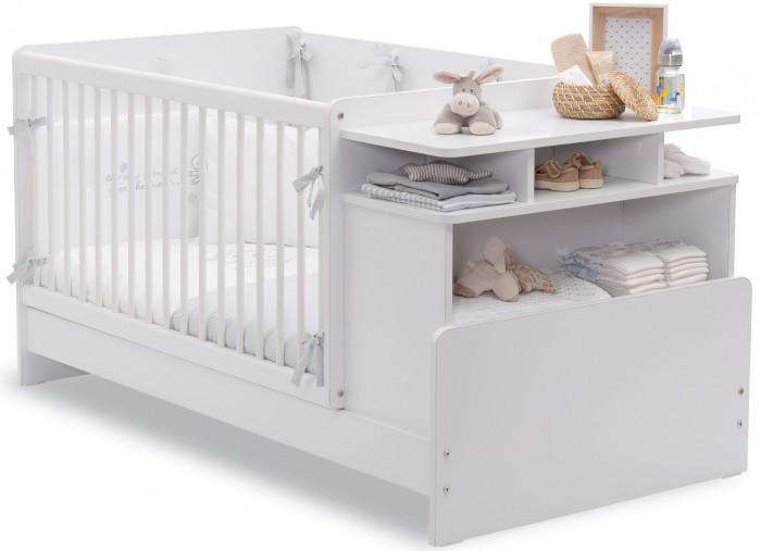 Купить Кроватки-трансформеры, Кроватка-трансформер Cilek с полками Baby Cotton 110х70/140х70 см