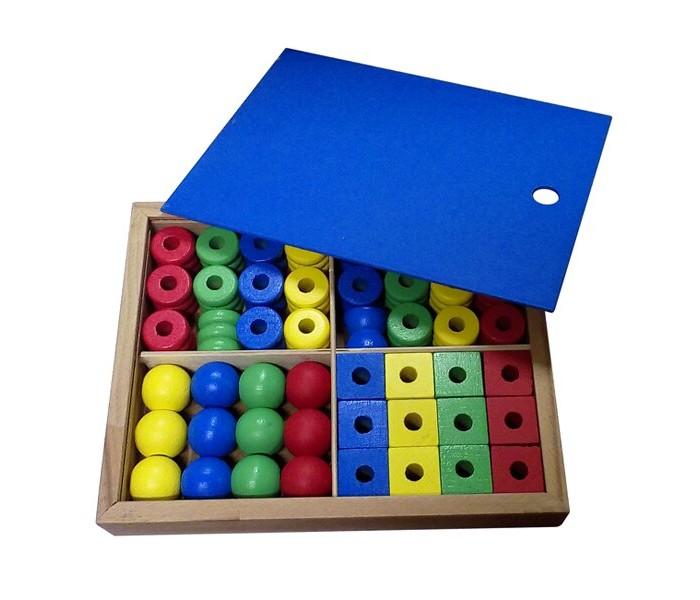 Картинка для Деревянные игрушки RNToys Дидактический набор в коробке (48 деталей)