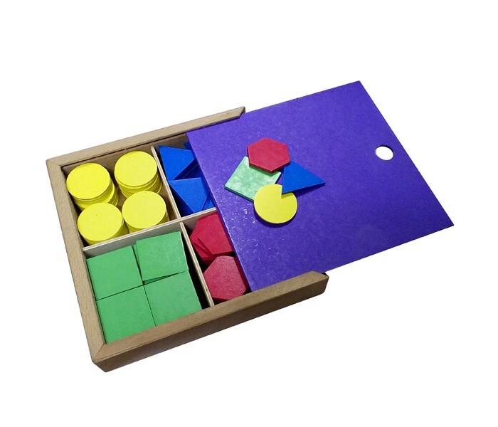Картинка для Деревянные игрушки RNToys Дидактический набор в коробке (160 деталей)