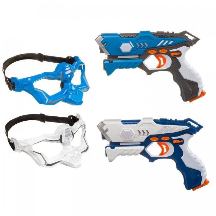 Купить Игрушечное оружие, Bondibon Игровой набор на батарейках Лазер-Жук с 2 ик-бластерами и 2 масками-мишенями