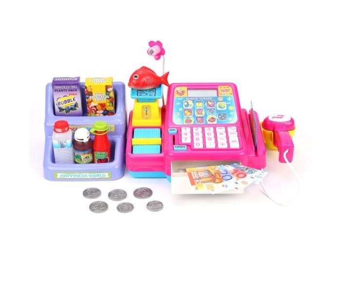 Купить Ролевые игры, Наша Игрушка Кассовый аппарат Торговый центр (15 предметов)