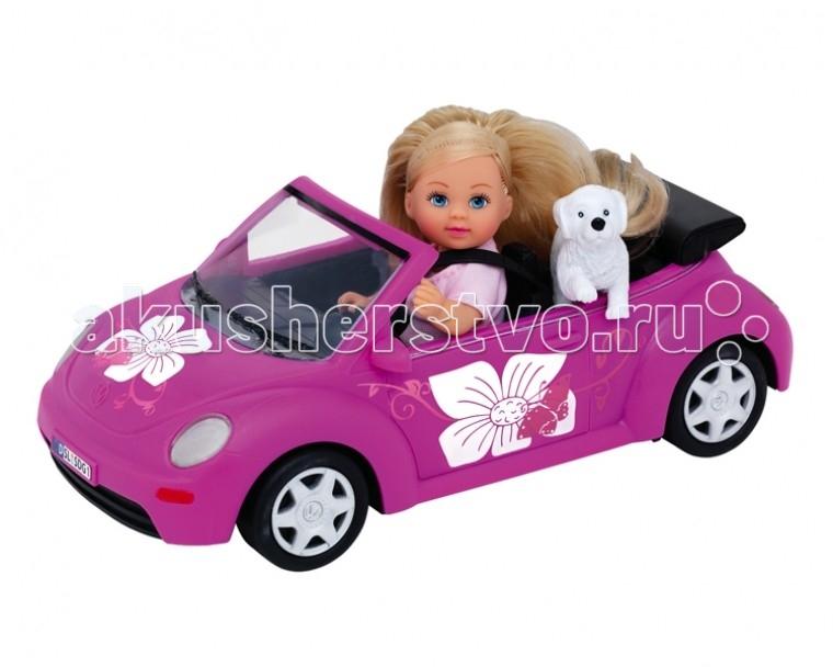 Куклы и одежда для кукол Simba Кукла Еви с машинкой 12 см куклы и одежда для кукол simba кукла еви со стильной собачкой 12 cм