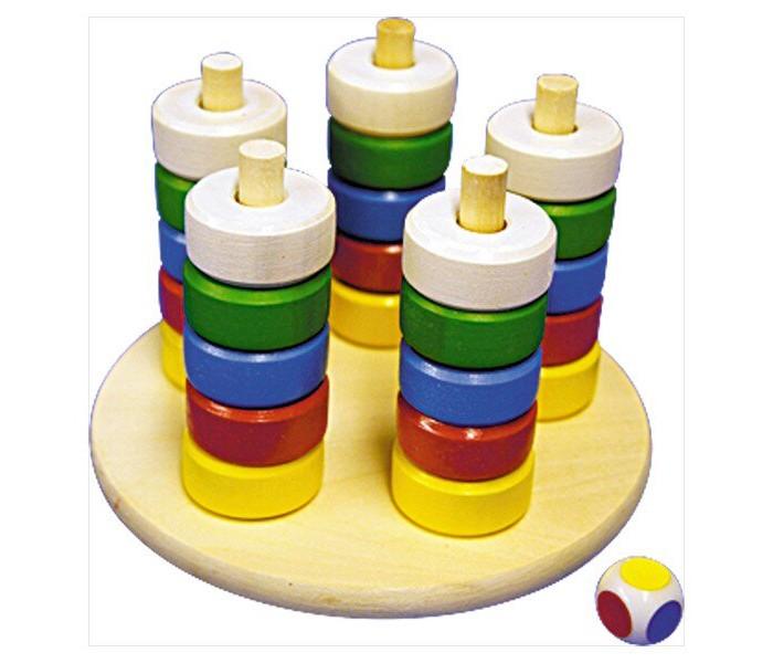 Купить Деревянные игрушки, Деревянная игрушка RNToys Пирамида цвет и счет