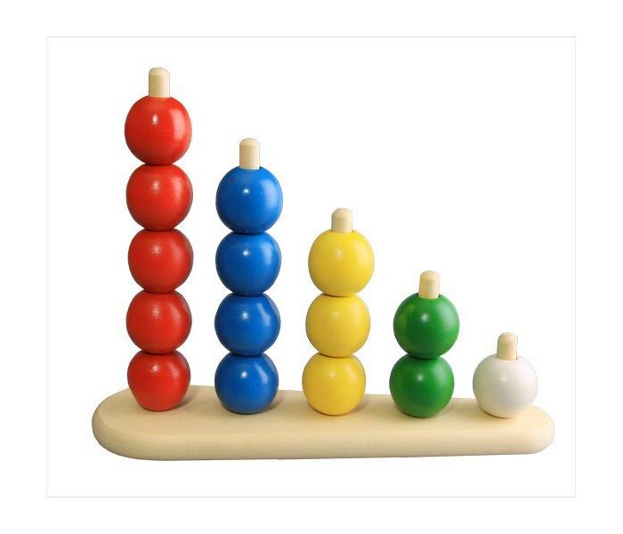 Картинка для Деревянные игрушки RNToys Пирамидка Абака с шариками