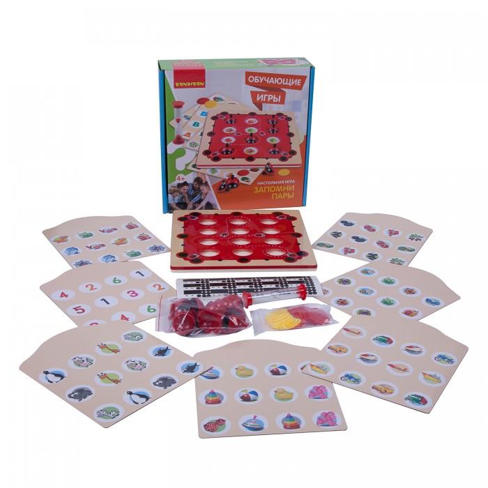Купить Настольные игры, Bondibon Обучающая настольная игра Запомни пары