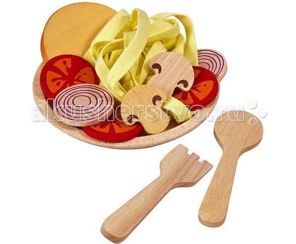 Ролевые игры Plan Toys Деревянный игрушечный набор Спагетти с овощами игрушки для ванны tolo toys набор ведерок квадратные