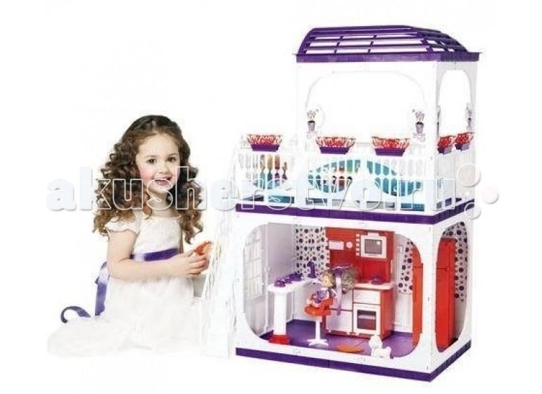 Огонек Дом для кукол Barbie (Барби) Конфетти С-1334 с мебелью