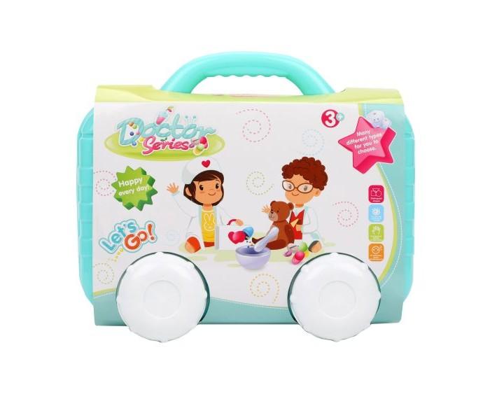 Наша Игрушка Набор доктора в чемодане на колесиках (13 предметов)