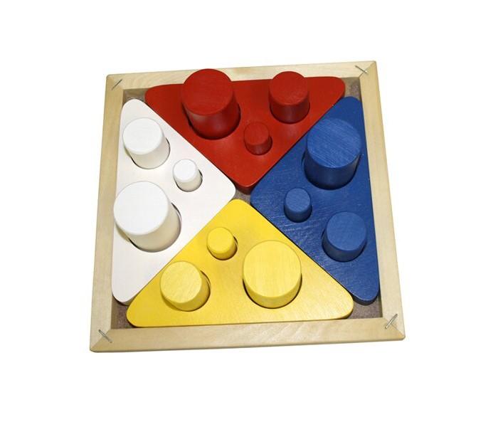 Купить Деревянные игрушки, Деревянная игрушка RNToys Цилиндры втыкалки Цвет, размер, диаметр