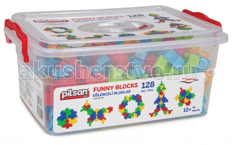 Конструкторы Pilsan Funny Blocks 128 деталей