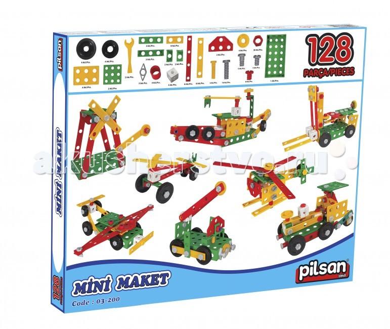 Конструкторы Pilsan модельный Mini Maket 128 деталей конструкторы clicformers space set mini 30 деталей