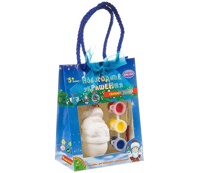Заготовки под роспись Bondibon Набор для творчества Новогодние украшения Снеговик ВВ0977-1