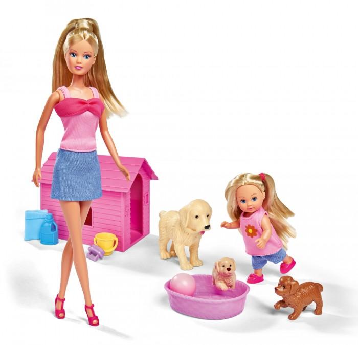 Купить Куклы и одежда для кукол, Simba Кукла Штеффи+Еви+зверюшки