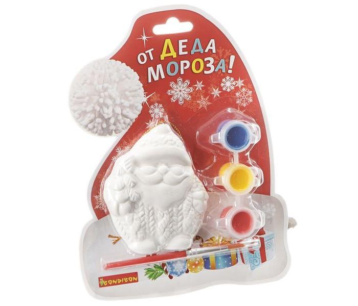 Картинка для Заготовки под роспись Bondibon Набор для творчества Ёлочные украшения Шапка Деда Мороза