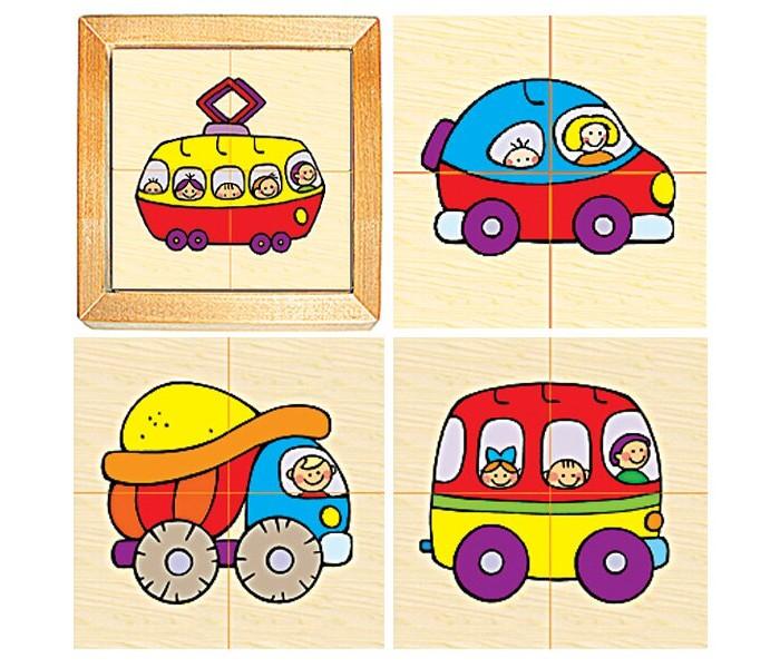 Фото - Деревянные игрушки RNToys Транспорт городской альбом наклеек городской транспорт