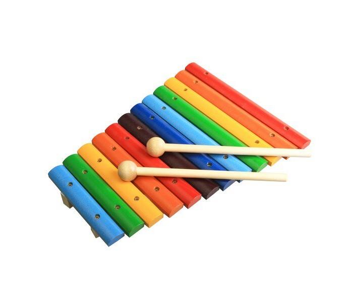 цена на Деревянные игрушки RNToys Ксилофон окрашенный 12 тонов