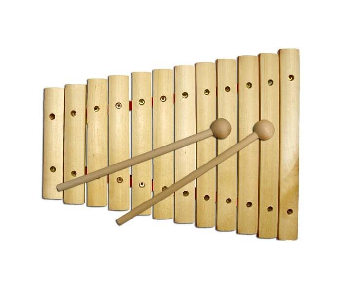 цена на Деревянные игрушки RNToys Ксилофон неокрашенный 12 тонов