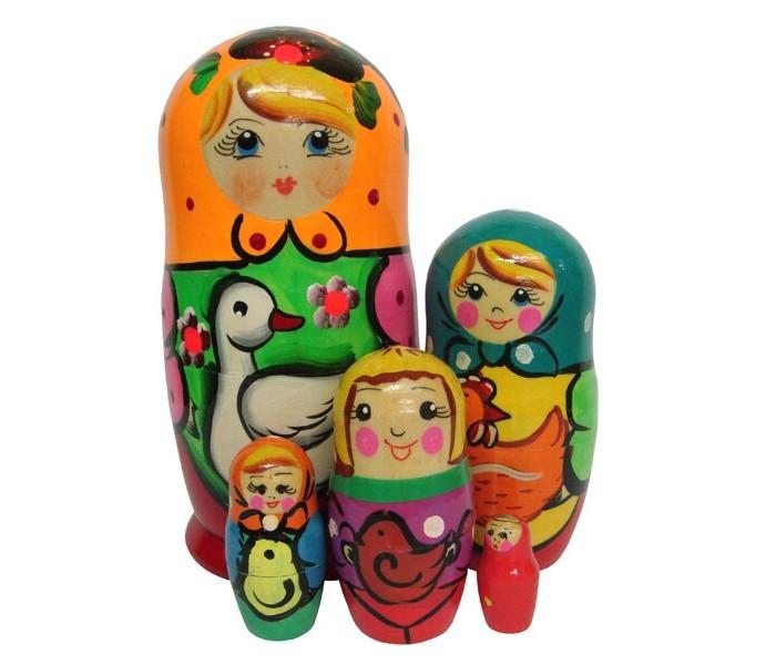 Фото - Деревянные игрушки RNToys Матрешка Подворье 5 в 1 матрешка art east влада вариант c 5 шт