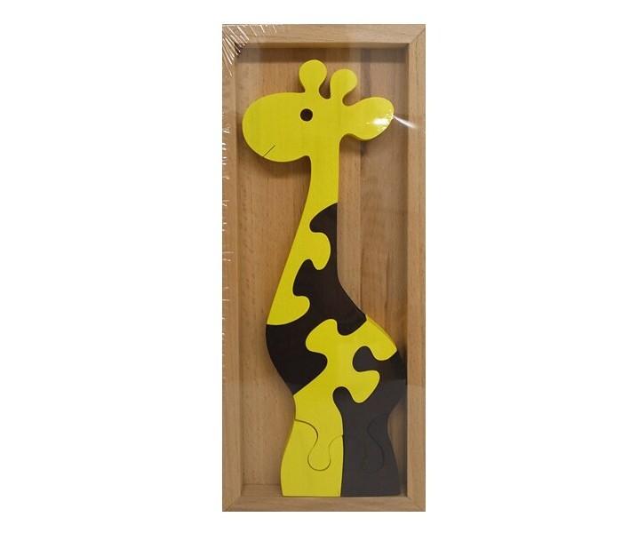 Картинка для Деревянные игрушки RNToys Пазл Жираф