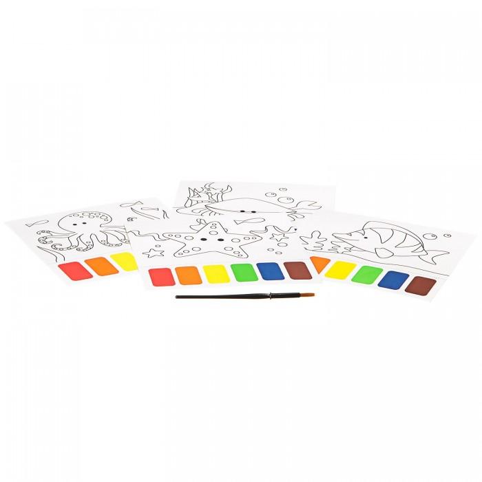 Раскраски Bondibon Набор для творчества с палитрой Морские обитатели