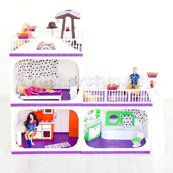 Кукольные домики и мебель Огонек Коттедж для кукол Конфетти без мебели аксессуары для кукол огонек дачный дом конфетти