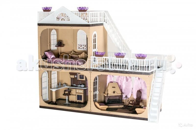 Кукольные домики и мебель Огонек Коттедж для кукол Barbie (Барби) Коллекция С-1292 с мебелью, Кукольные домики и мебель - артикул:75521