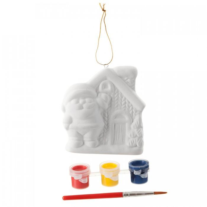 Картинка для Заготовки под роспись Bondibon Набор для творчества Ёлочные украшения Домик Деда Мороза