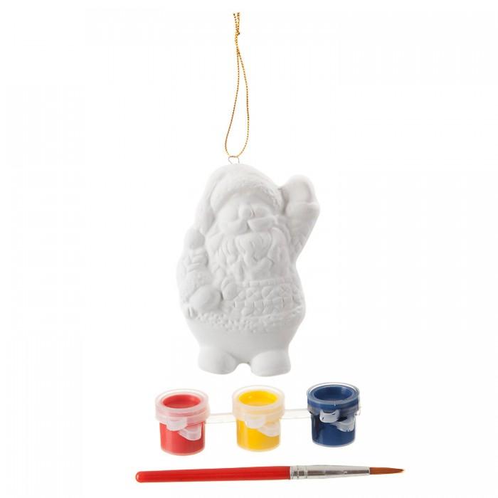 Картинка для Заготовки под роспись Bondibon Набор для творчества Ёлочные украшения Дед Мороз ВВ1663