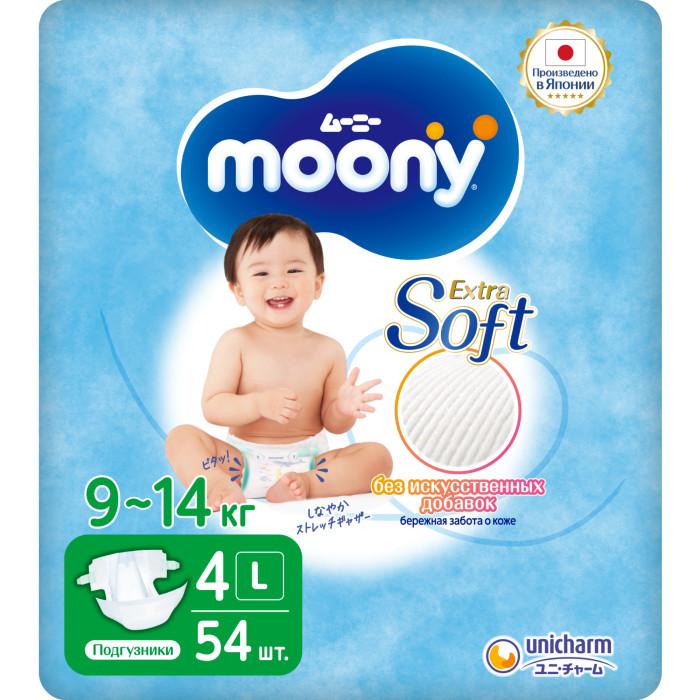 Подгузники Moony Подгузники L (9-14 кг) 54 шт. moony подгузники 9 14 кг 54 шт