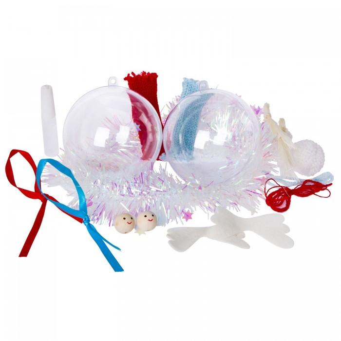 Наборы для творчества Bondibon Набор Новогодние шары с сюрпризом (2 шара) ВВ2058
