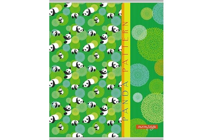 Картинка для Тетради Апплика Тетрадь Паттерн Панды клетка А5 (48 листов)