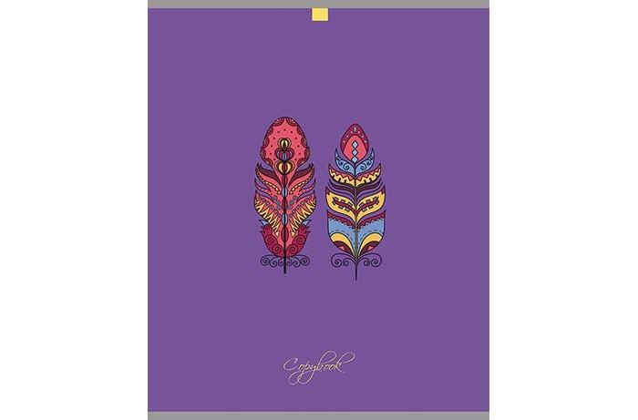 Тетради Апплика Тетрадь Разноцветные перья клетка А5 (80 листов)
