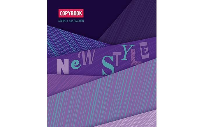 Картинка для Тетради Апплика Тетрадь Фиолетовые полоски клетка А5 (80 листов)
