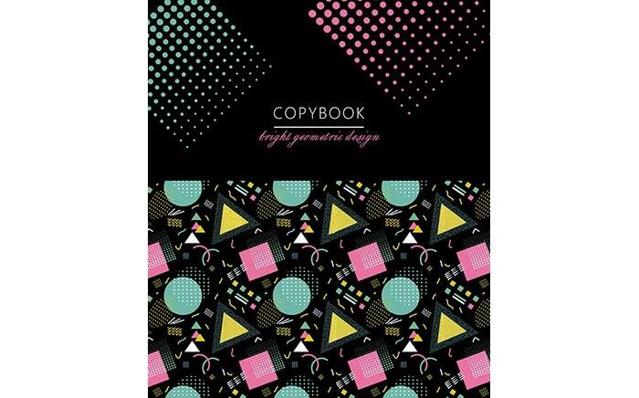 Картинка для Тетради Апплика Тетрадь Разноцветная геометрия клетка А5 (48 листов)