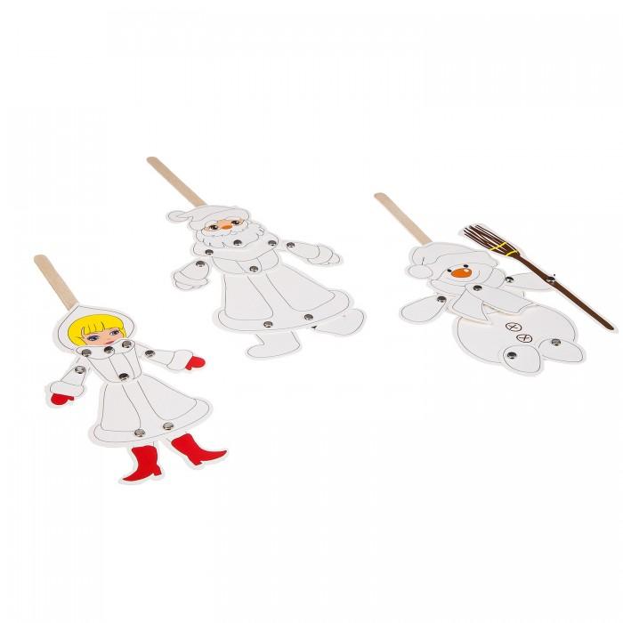 Картинка для Наборы для творчества Bondibon Набор для творчества Марионетки (Дед Мороз, Снегурочка, Снеговик)