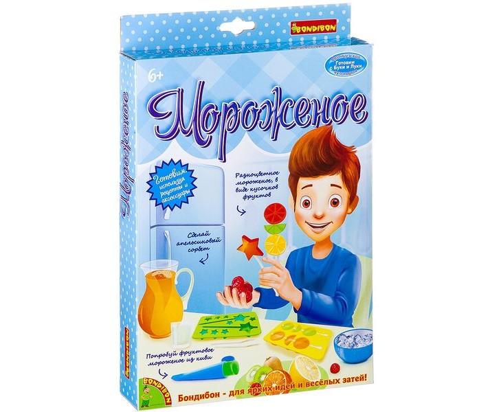 Наборы для творчества Bondibon Французские опыты Науки с Буки Мороженое (5 экспериментов) мороженое и сорбе книга с 40 рецептами 6 формочек для мороженого