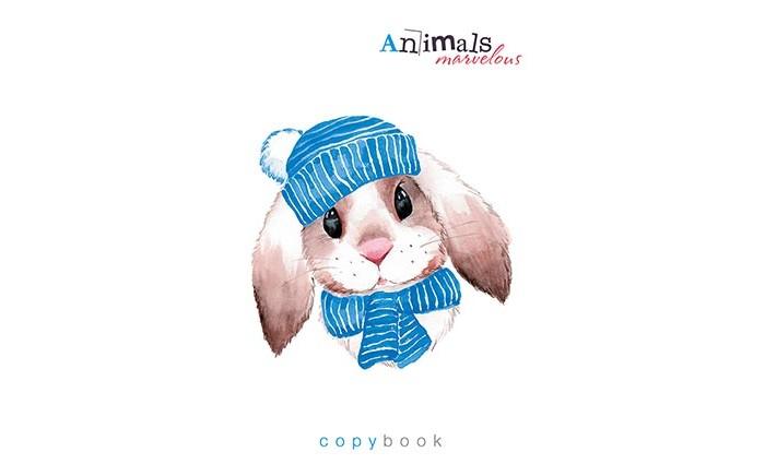 Картинка для Тетради Апплика Тетрадь Вязаный стиль Кролик клетка А5 (48 листов)