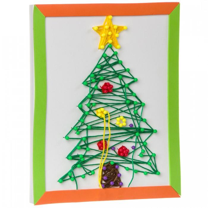 Картинка для Картины своими руками Bondibon Набор для творчества Картина из ниток Новогодняя Ёлочка