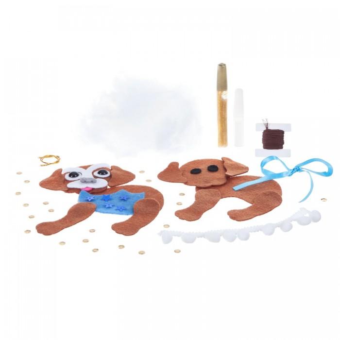 Картинка для Наборы кройки и шитья Bondibon Набор для творчества Ёлочные украшения из фетра Собака