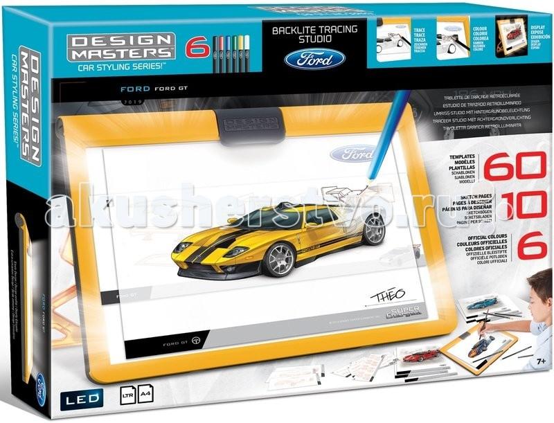 Раскраска Wooky Design Masters 7019 Дизайн-студия FordDesign Masters 7019 Дизайн-студия FordDesign Masters 7019 Дизайн-студия Ford.  Каждому юному дизайнеру требуется вот такой инструмент для рисования, не только, чтобы рисовать, но и создавать потрясающие образы автомобиля на дорогах города, подбирая свой уникальный стиль. Каждый предлагаемый нами набор для дизайнера создан для воплощения уникальных детских идей, помогая создавать шедевры дизайнерской мысли. Родители смогут заказать множество аксессуаров для набора. Богатый ассортимент товаров для развития и творчества является настоящим кладом для всех девочек, любящих создавать яркие неповторимые образы.  Пожалуй, среди производительных автомобилей нет более легендарного, чем Ford GT40 в оригинальном исполнении. В 1966 году Ford со своим GT40 потрясли Международное гоночное сообщество, захватив Чемпионат Спортивных автомобилей - получили престижную награду, наряду с победой в Дайтоне в 24-часовой гонке, а также на трассе Сербинг в 12-часовой гонке на выносливость и заняли 3 топовых позиции на престижной 24-часовой гонке в Ле-Мане. Дизайн и производительность автомобиля захватывает дух фанатов и выводит Ford GT40 на новый уровень, как победителя Международного чемпионата.  Содержание набора: 1 дизайнерская рамка-студия для рисования более 75 шаблонов 6 карандашей, с официальными цветовыми решениями 10 эскизов страниц.<br>